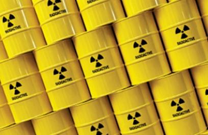Un reactor que genera electricidad del desperdicio nuclear