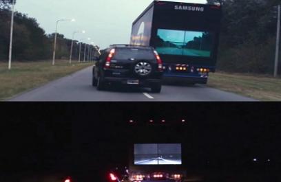 ¿Ver a través de un camión en carretera? Con Samsung es posible