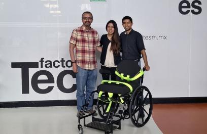 Mexicanos diseñan silla de ruedas que previene llagas en pacientes con discapacidad motriz