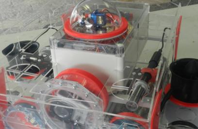 Prototipo de robot submarino para medir contaminación