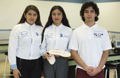 Crean alumnos mexicanos plantilla de calzado antisecuestro que se activa con la presión de los dedos